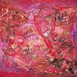 """<b>Still life crustacés (Huile sur toile format 41x33 cm)</b> <br /> """"still-life"""" qui se traduirait par « vie silencieuse ou vie immobile » Nature et Surnature sont indissociables dans un cycle de vie et de mort et le thème de la désintégration, tout ce qui ce transforme et disparaît et pour moi un sujet de prédilection."""